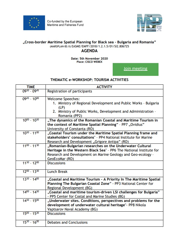 Draft Agenda Tourism Workshop